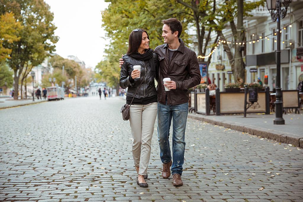 couple walking, date night ideas