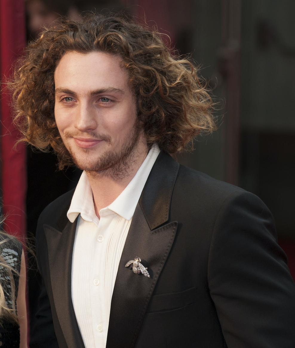 Aaron Taylor-Johnson and his curly hair