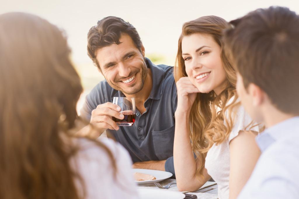 dinner party conversationalist people talking