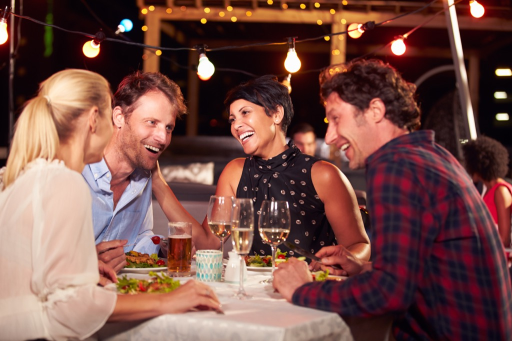 friends dinner party conversationalist, how to make friends after 40