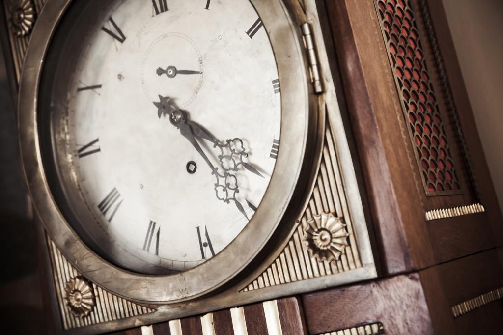 grandfather clock office