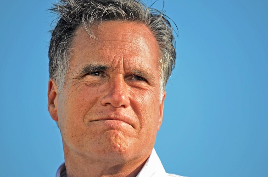 mitt romney celebrities fly coach