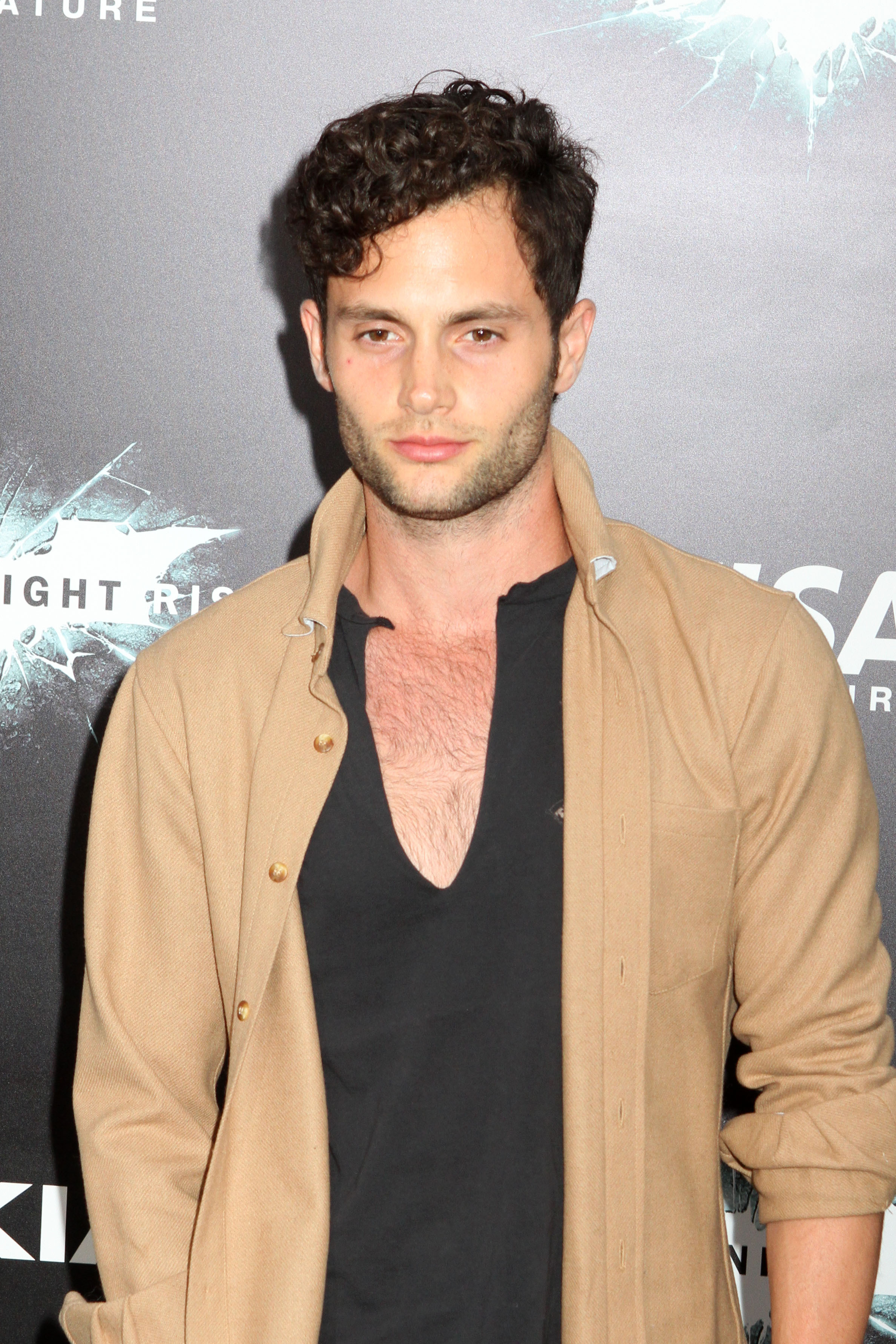 Penn Badgely and his curly hair