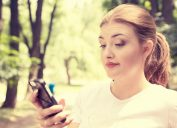 woman texting dating