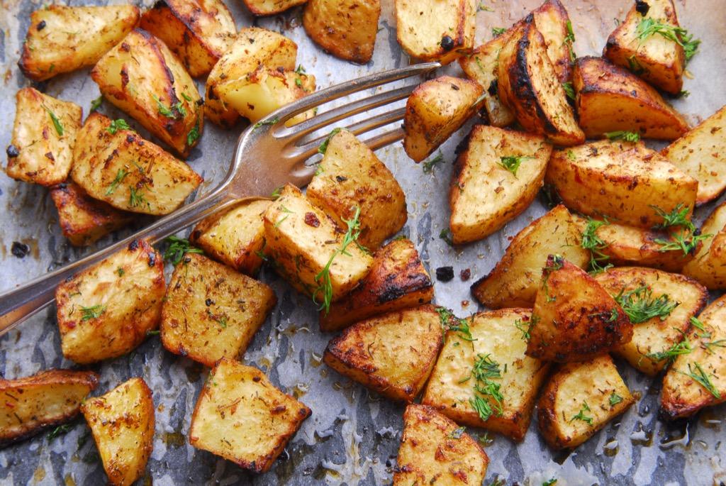 Potatoes in pan