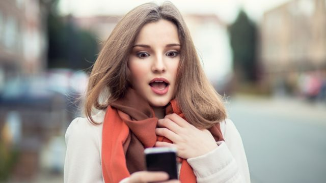Woman sexting in public, sexting examples