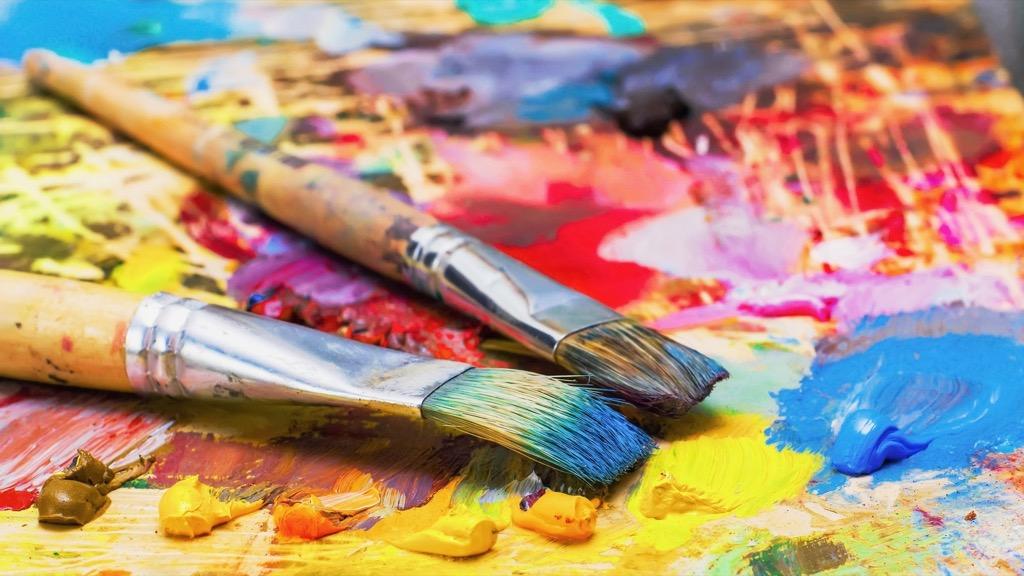 paint brush canvas office