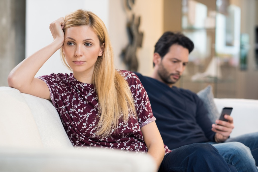distracted couple commitment
