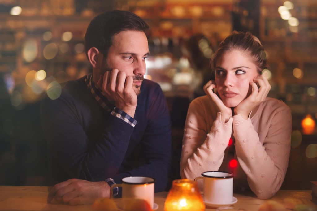 bored couple pet peeves in relationships