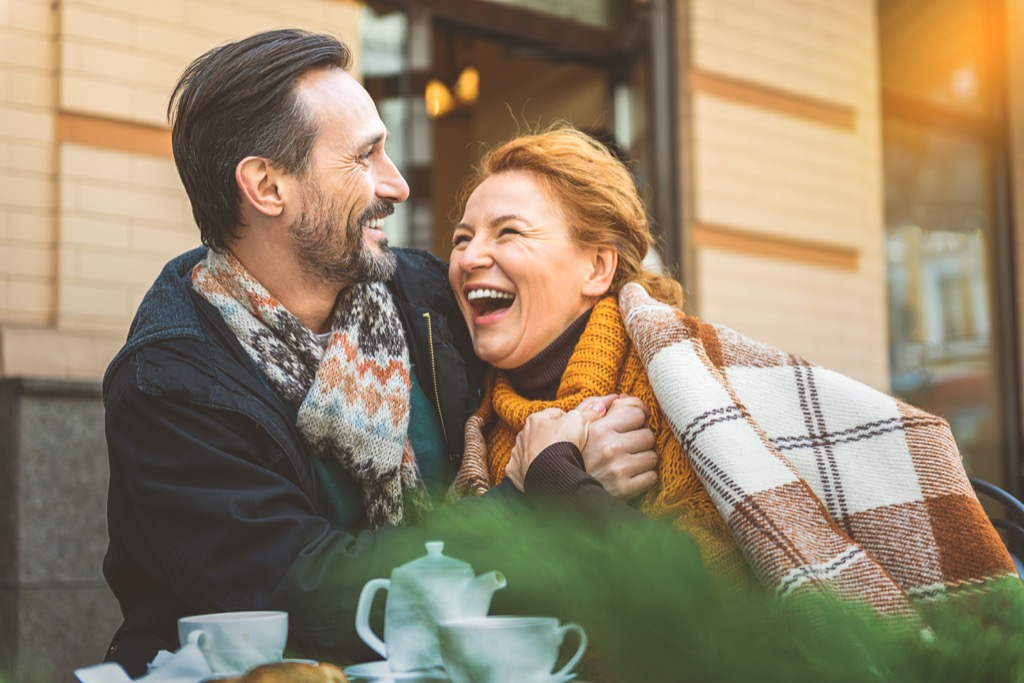 man and woman dating over 40