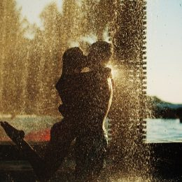 couple kissing in shower, shower sex