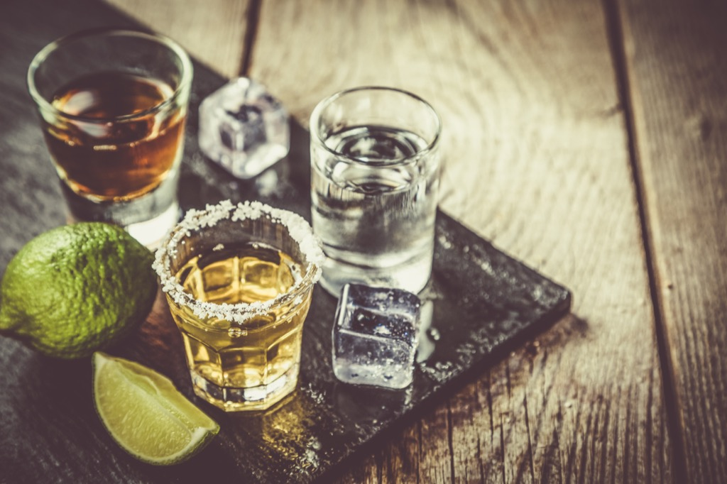 tequila shots, alcoholism is a risk over 40
