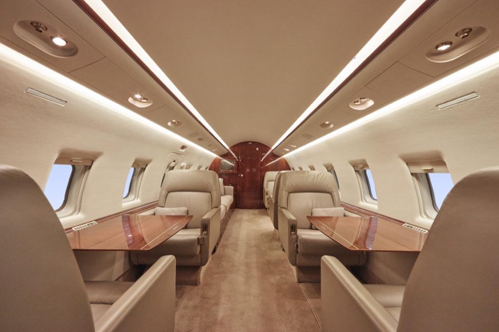 private jet interior, celebrities not like us