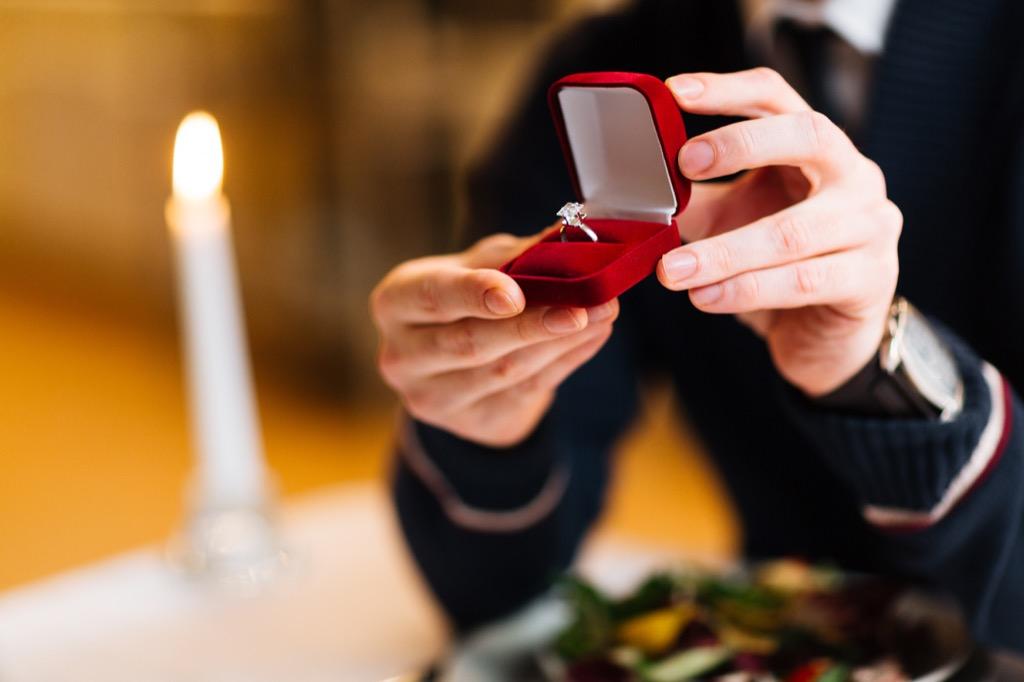 man proposing marriage