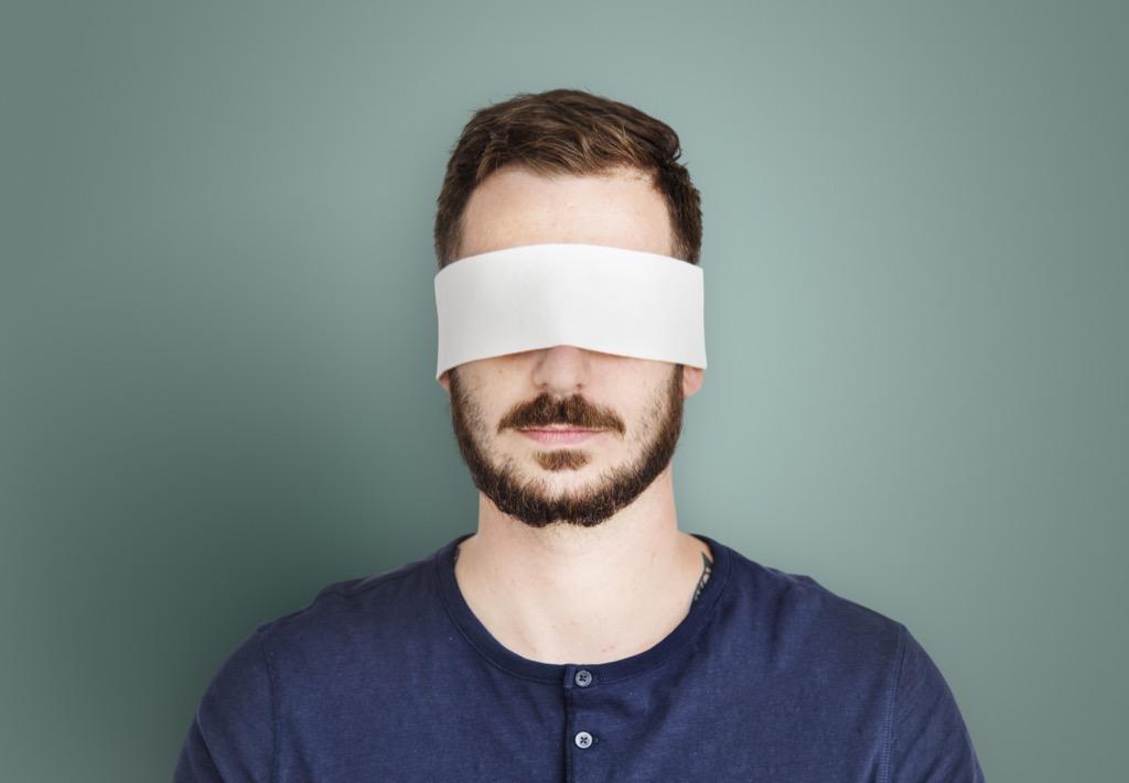 blindfold man, celebrities not like us