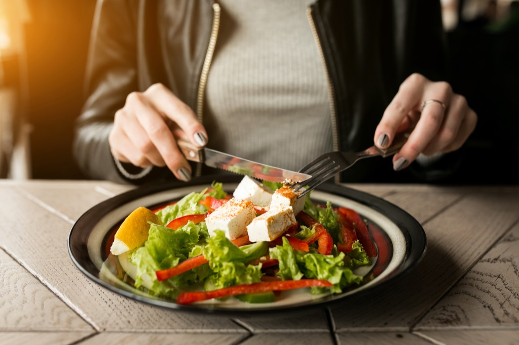 breast cancer prevention, salad