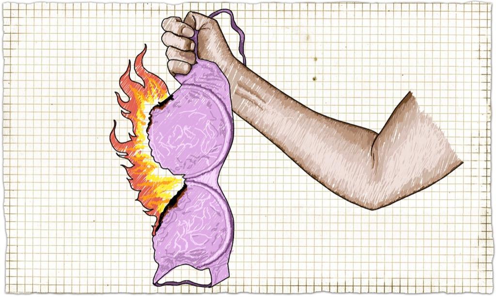 a burning bra