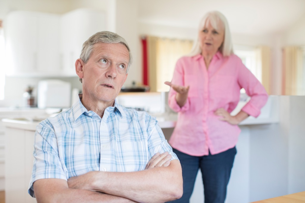 Older Couple Fighting Over 40