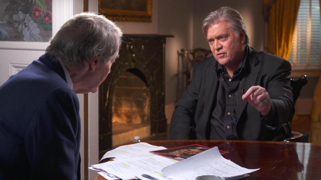Steve Bannon wears two collared shirts