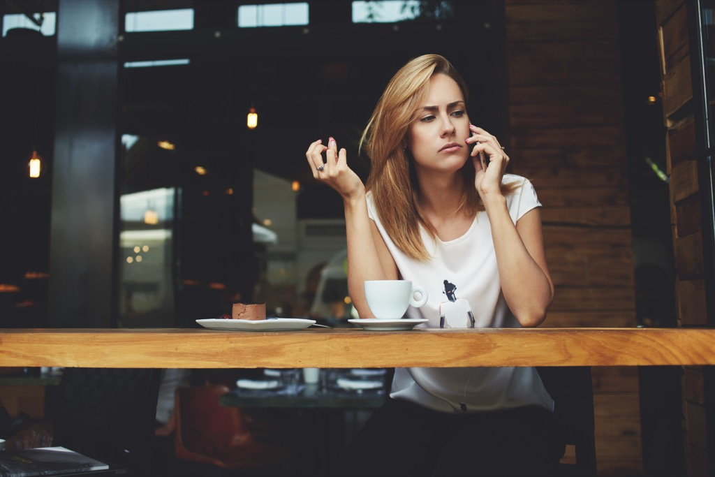 woman on phone conversationalist