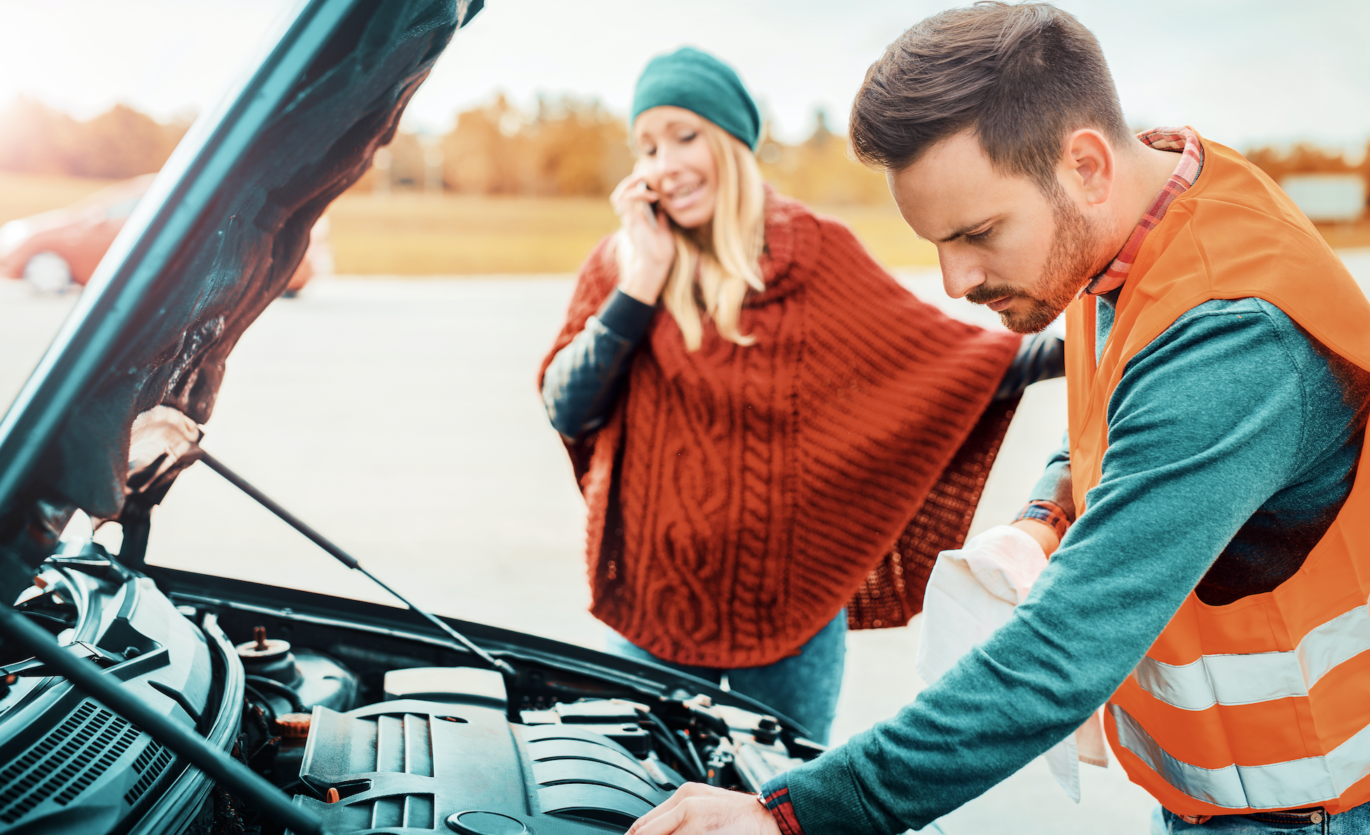 man looking under the hood of the car, what he wants you to say