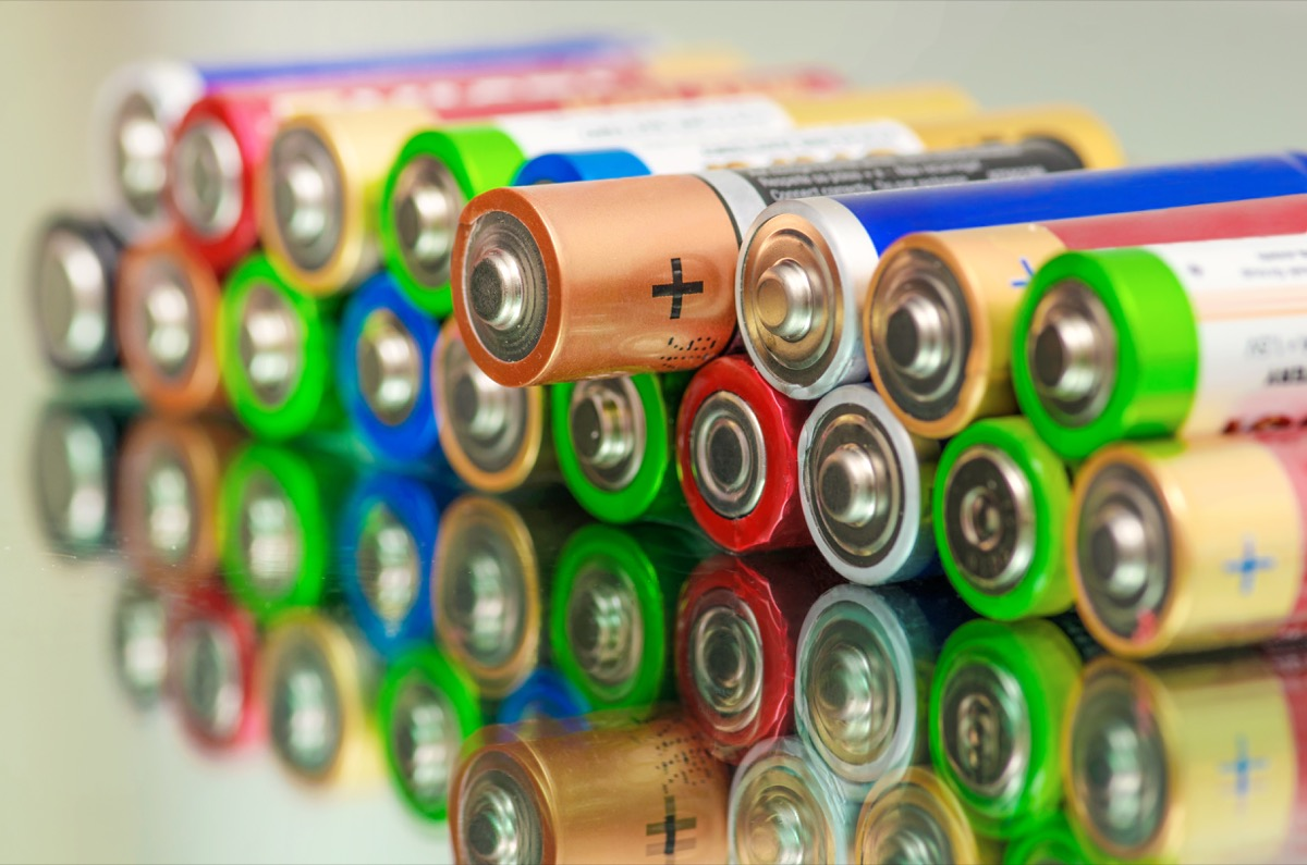 Batteries, things you shouldn't store in your basement