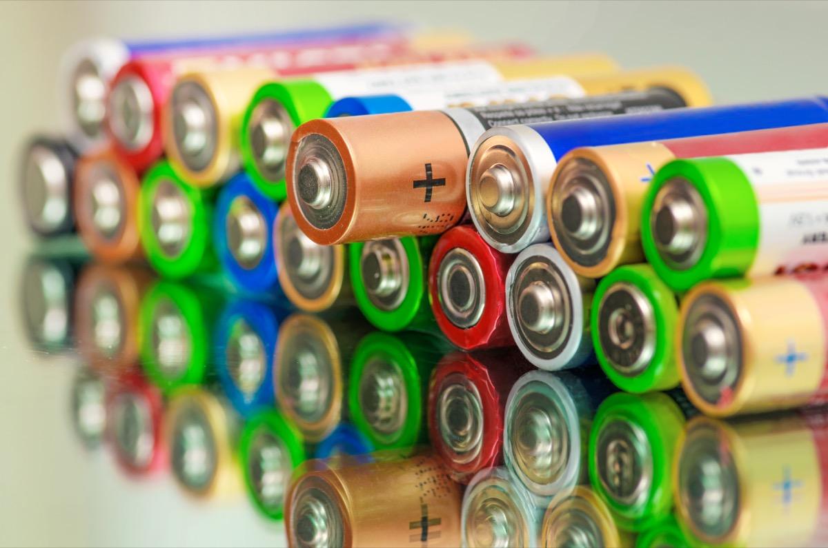 Batteries get rid of old stuff