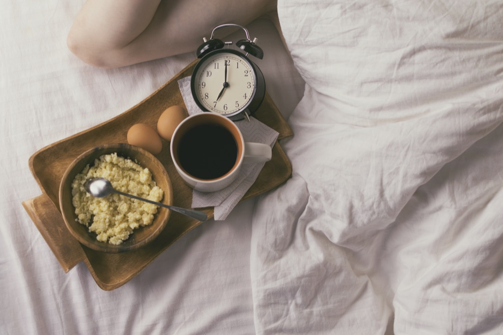 Breakfast, great for your body clock.