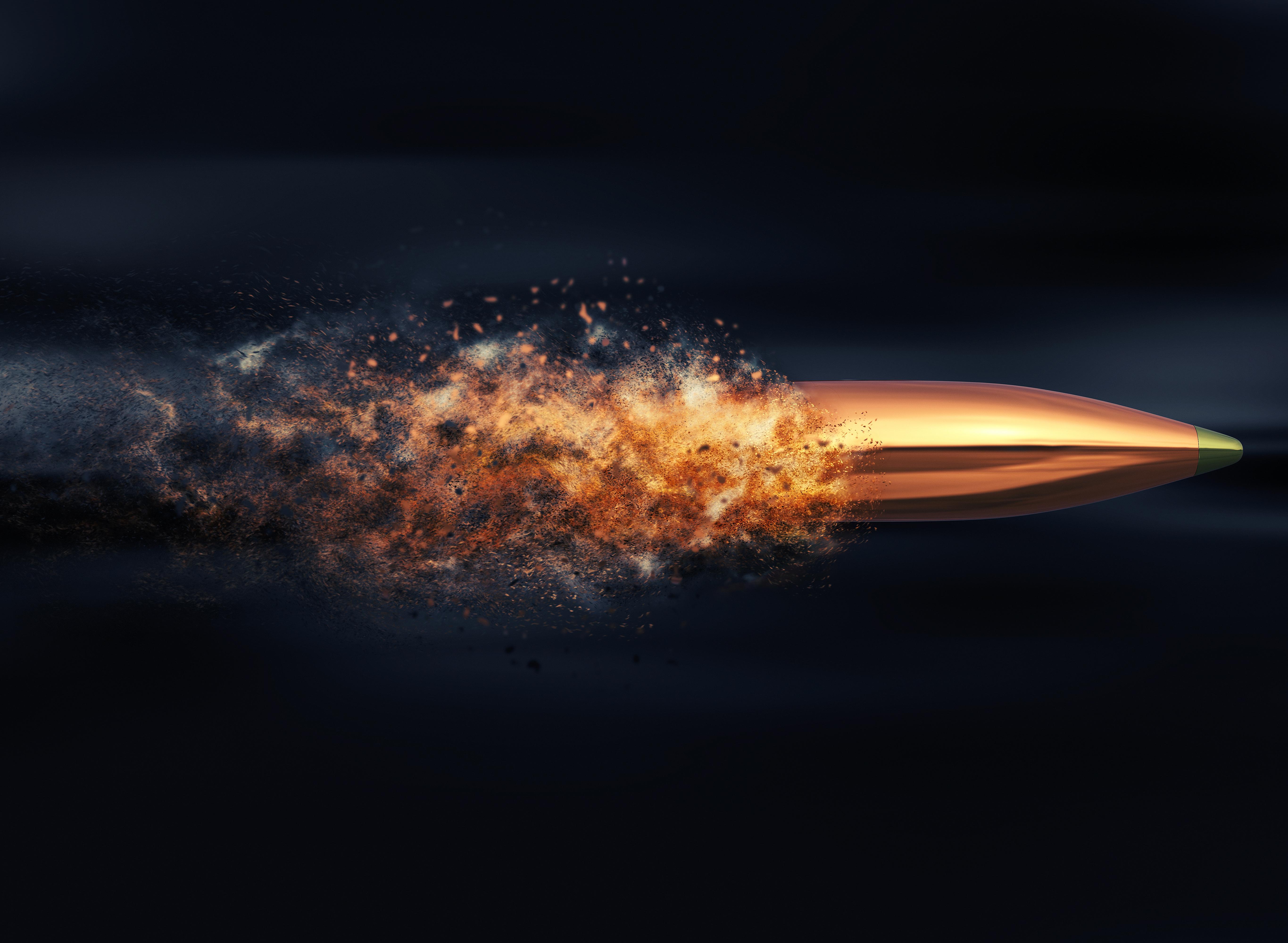 Bullet from gun