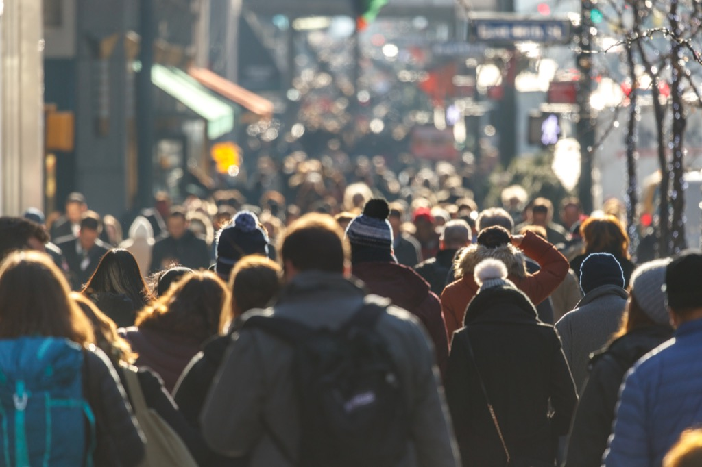 city dwellers pedestrians walking stress stressed out