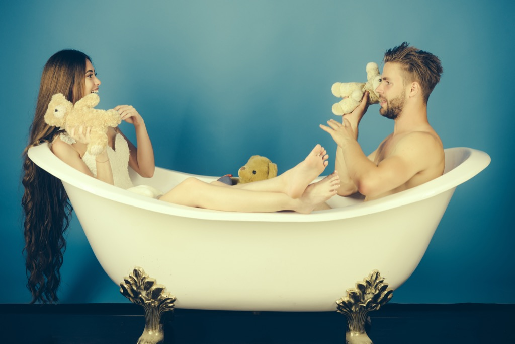 taking a bath together can help couples relax