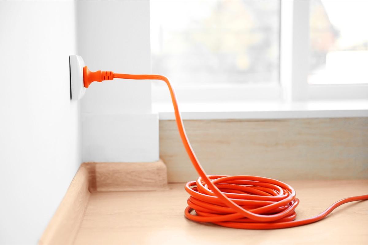 Orange Extension Cord