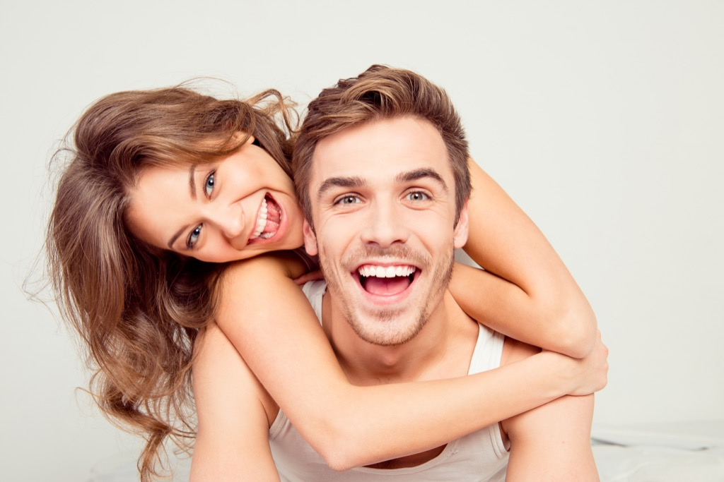 laughing together is way for couples to relax together