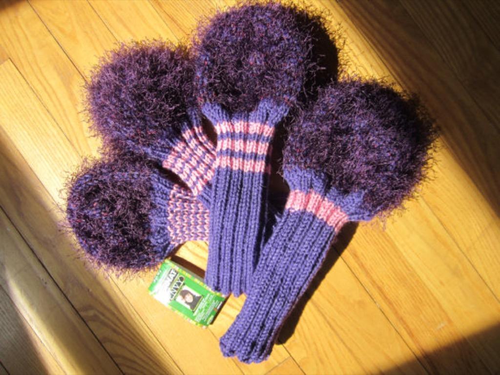 fuzzy golf club warmers