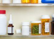 medicine cabinet with medications