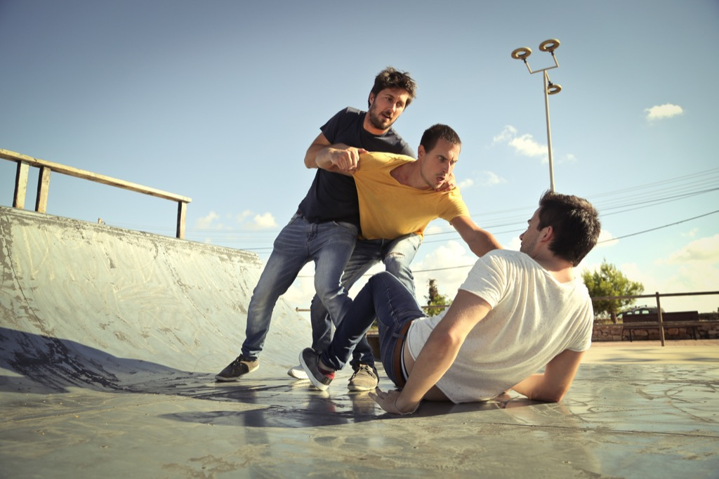 men fighting in skate park advice you should ignore over 40