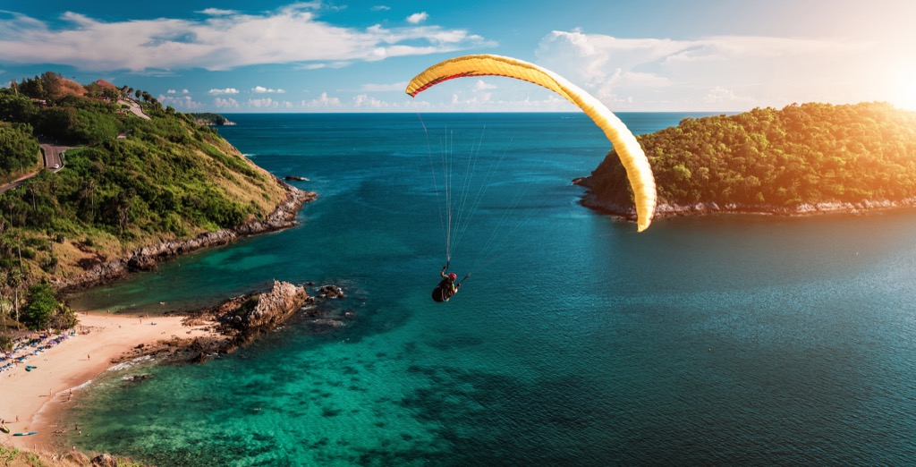 parasailing skydiving adrenaline feel younger