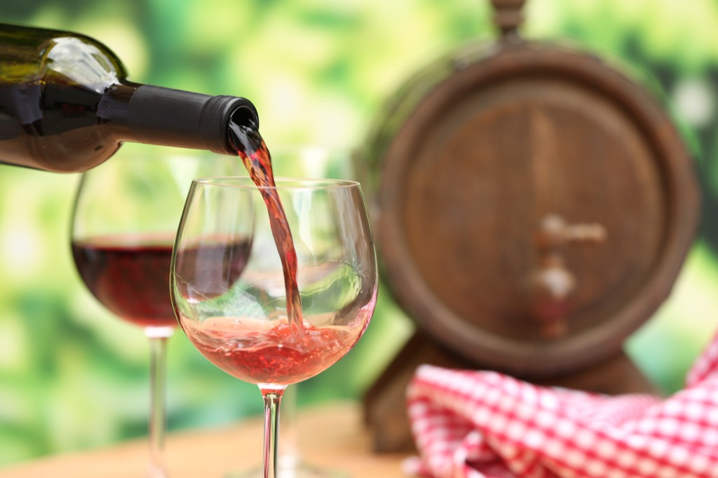 pouring red wine, date night ideas