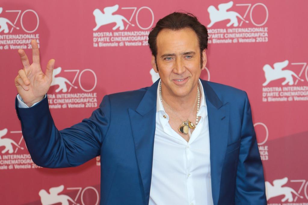 Nicolas Cage misspelled celebrity names