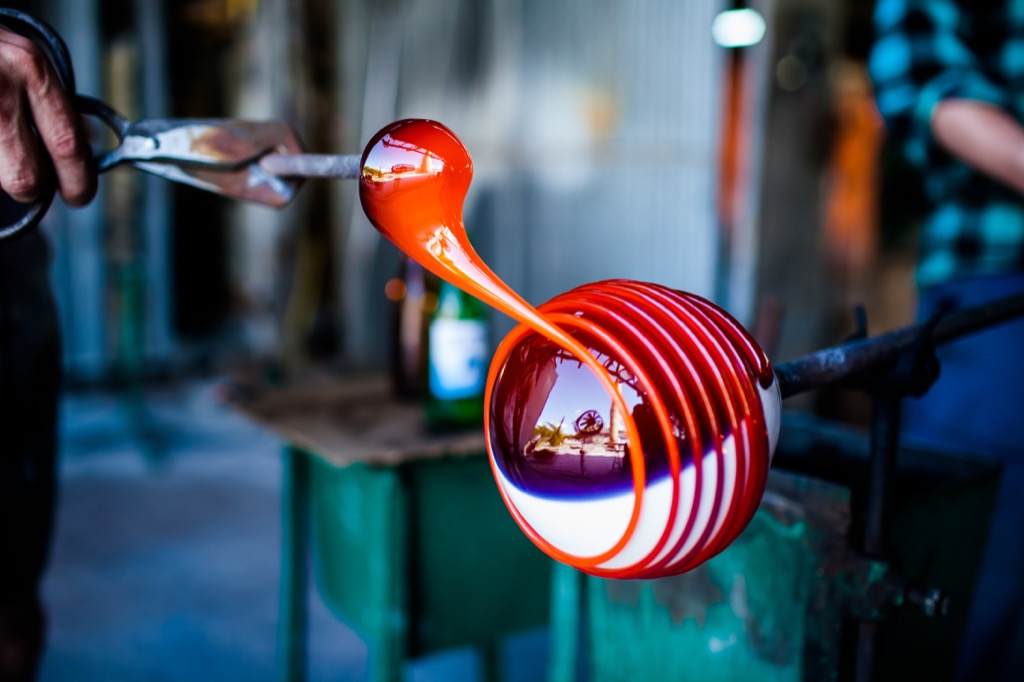 Glass blowing, a great non-cliché second date. second date ideas
