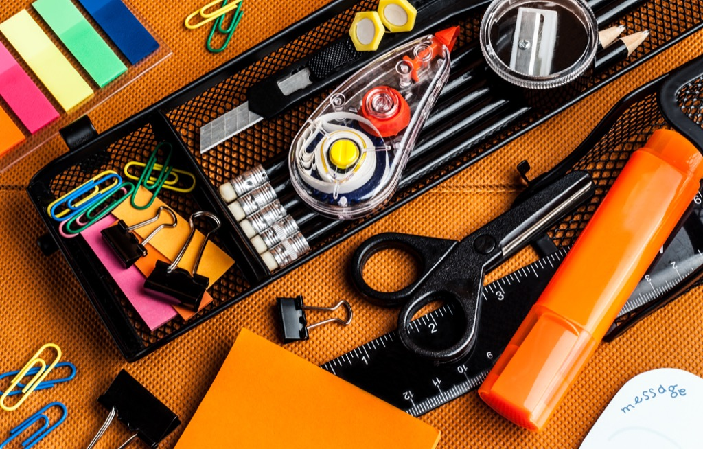office supplies, get rid of kids stuff