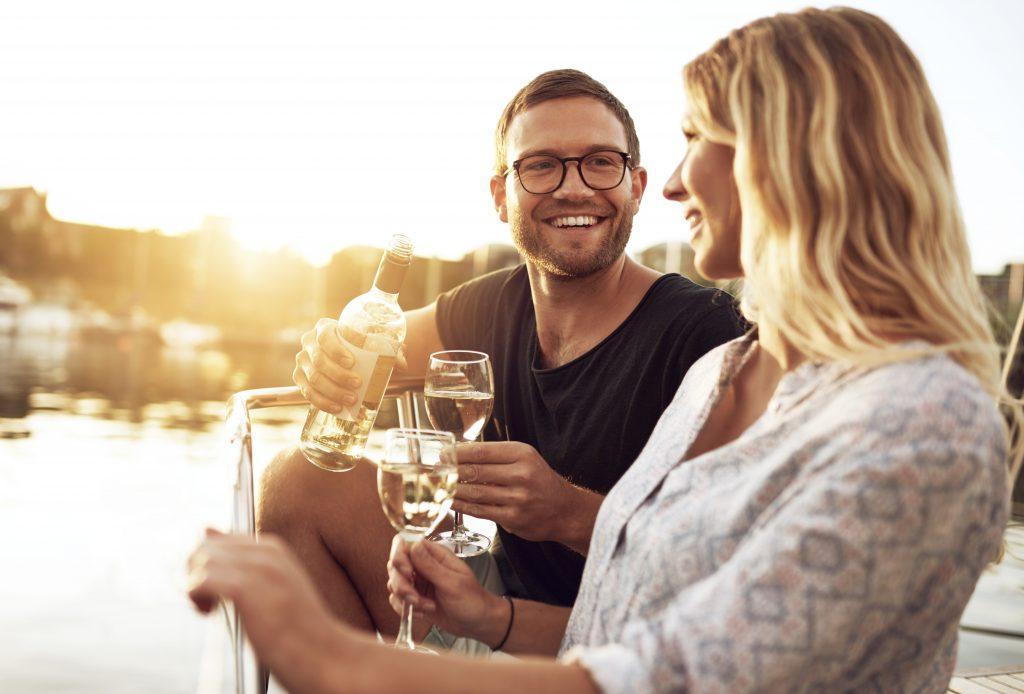 benefits of wine attractive couple