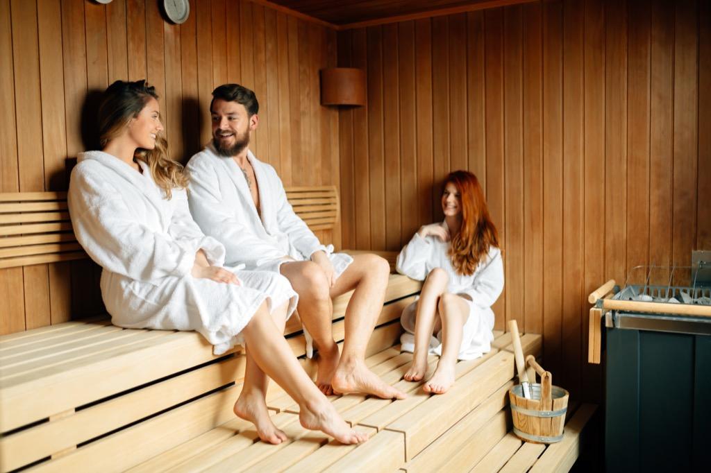 sauna, sweating, cultural mistakes