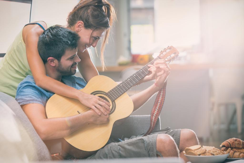 playing guitar hobbies