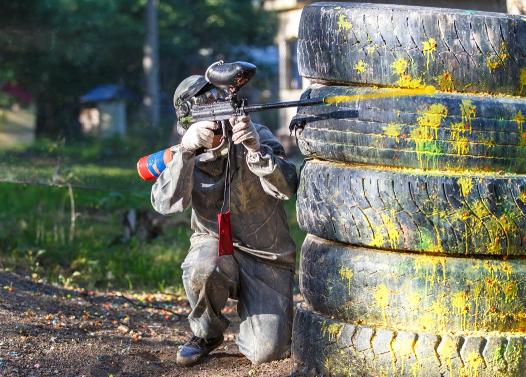 Paintball, a great non-cliché second date. second date ideas