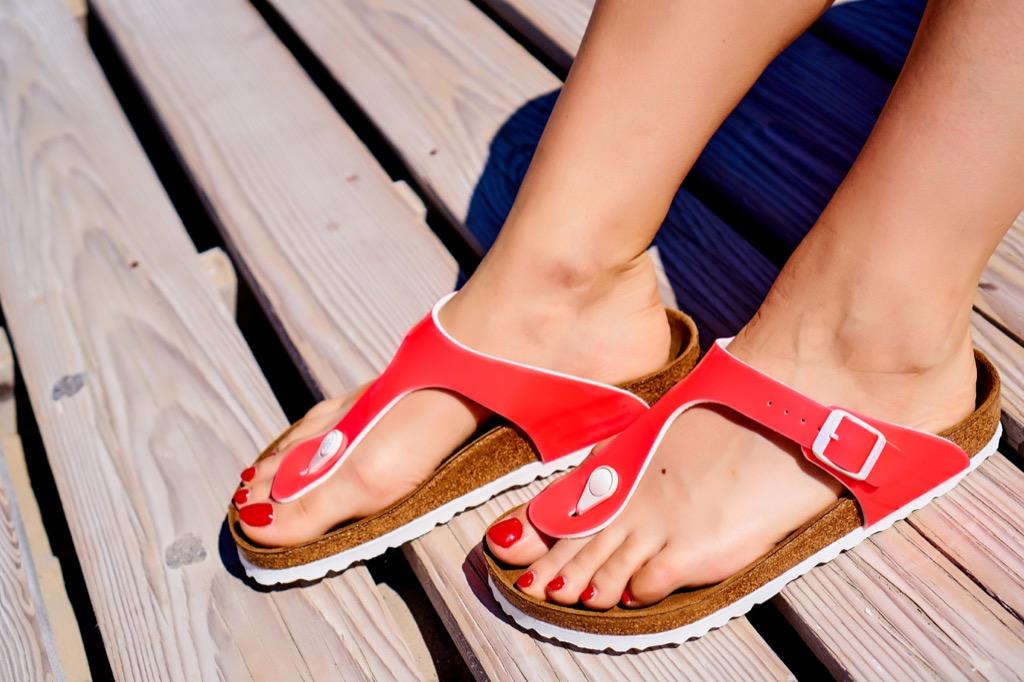 flip flop sandals Organized