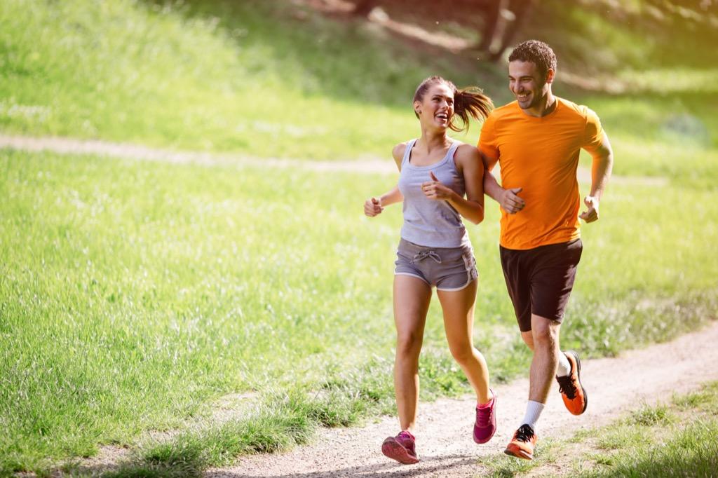 couple running, jogging, hobbies