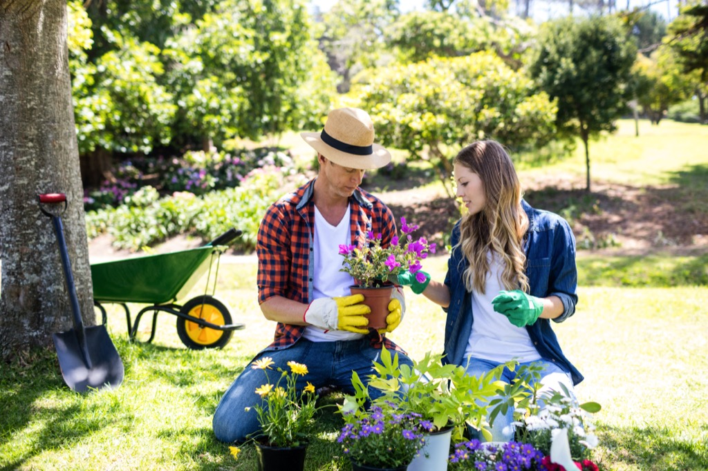 women gardening outside how to make friends after 40