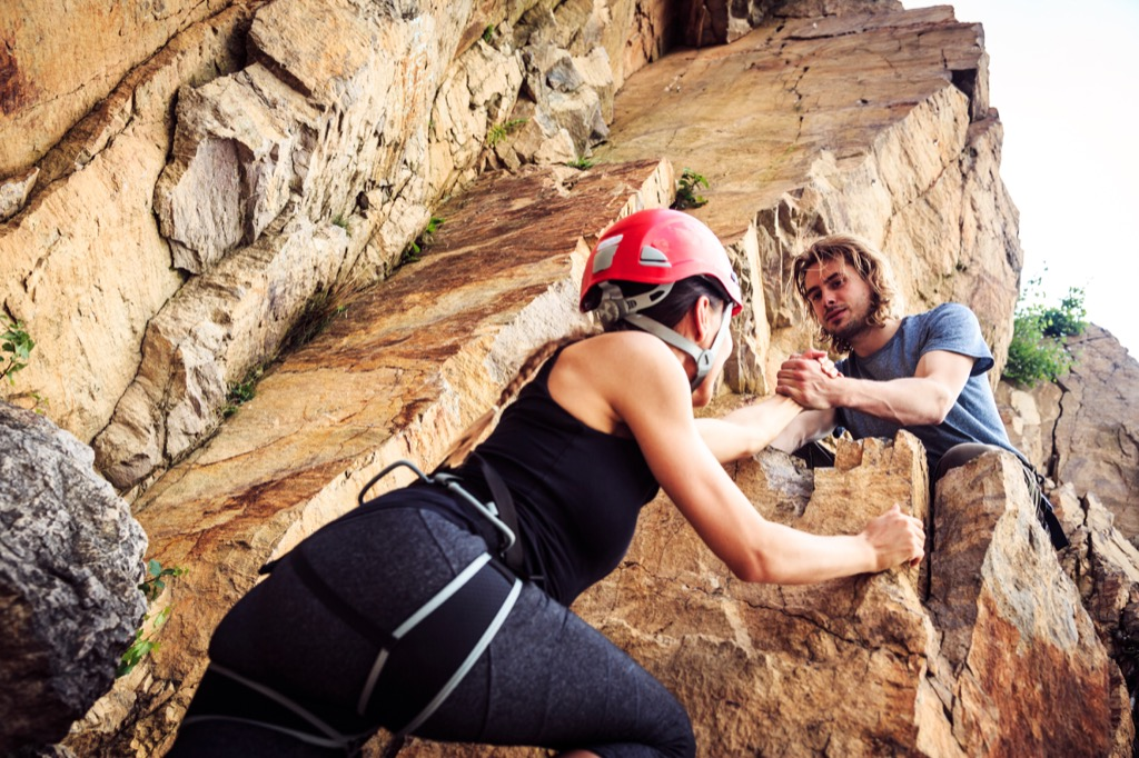 rock climbing hobbies