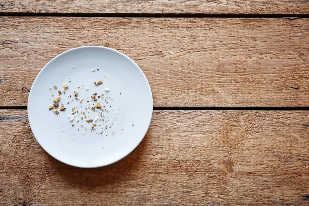breadcrumbs on empty plate things in your house attracting pests